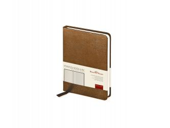 Ежедневник недатированный А6 Megapolis, коричневый