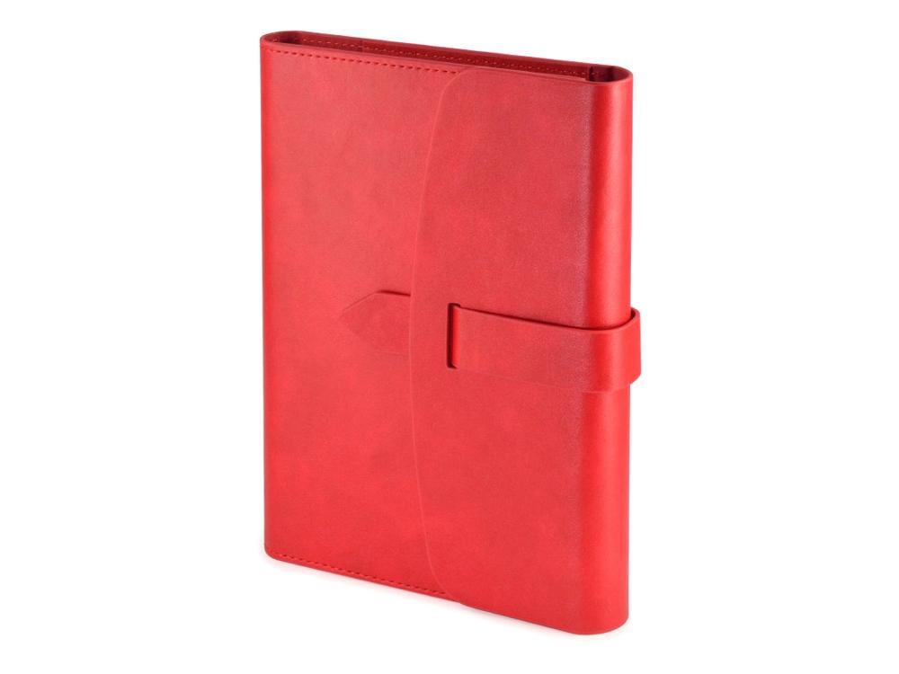 Ежедневник недатированный А5 Senate с магнитным клапаном, красный