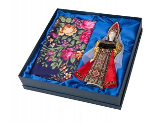 Набор Катерина: кукла в народном костюме, платок , красный