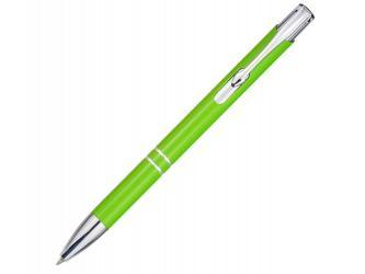 Алюминиевая шариковая кнопочная ручка Moneta, лайм