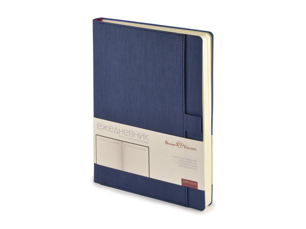 Ежедневник недатированный А5 Marseille, синий