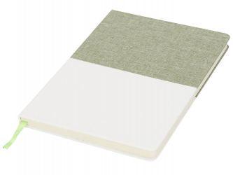 Блокнот А5 двухцветный, зеленый