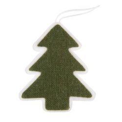 Украшение новогоднее ЕЛКА, 13cм, пластик, ткань, зеленый