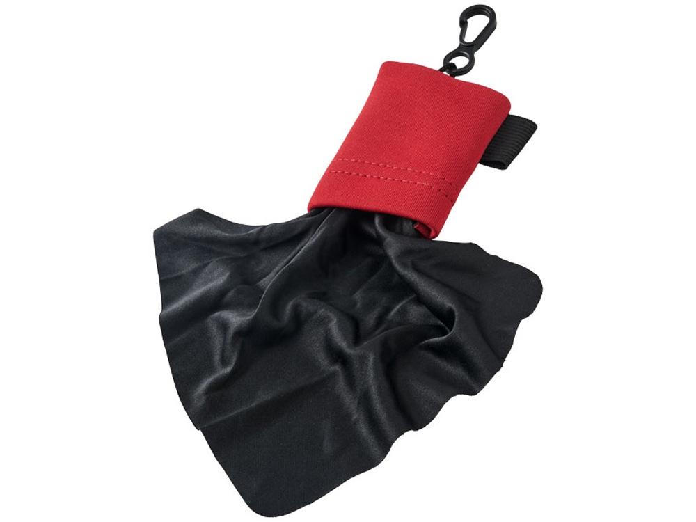 Очищающая салфетка Clear из микрофибры в чехле, красный