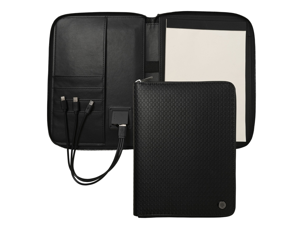 Папка формата А5 + портативное зарядное устройство Epitome Black